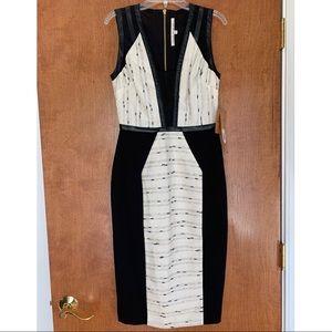 Rachel Roy Black/White/Gold Dress